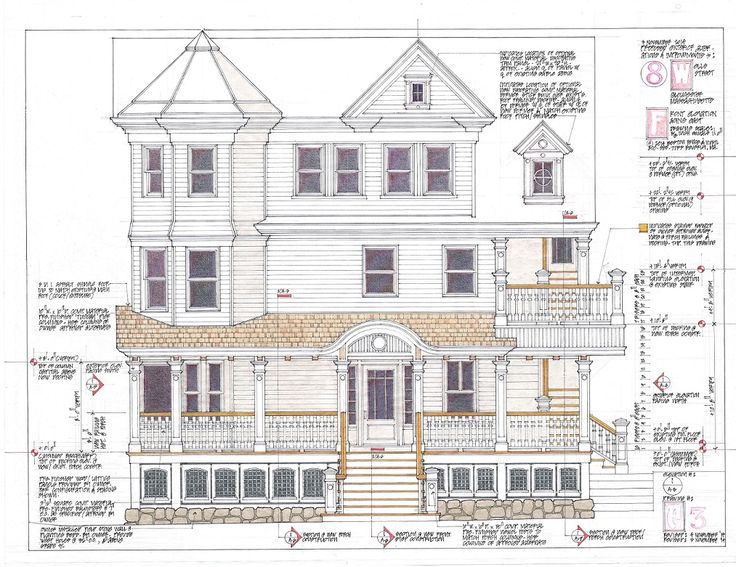 Escalator Front Elevation Dwg : Front elevation showing all new work porch stairs and