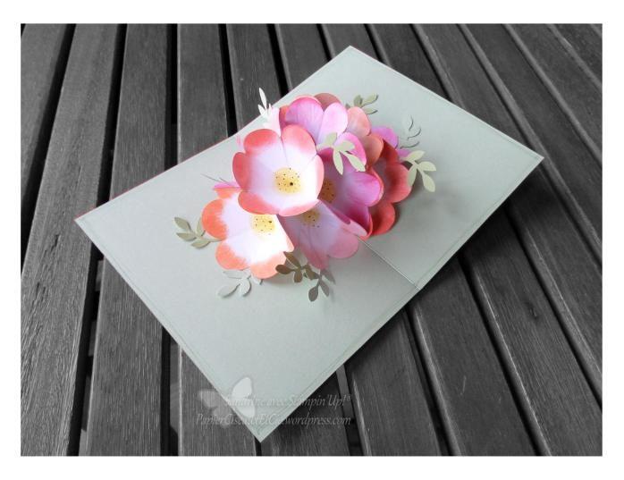 vive le printemps ouverture italienne carte pop up fleur flower pop up