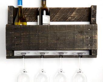 Estante de vino del olmo poco por DelHutsonDesigns en Etsy