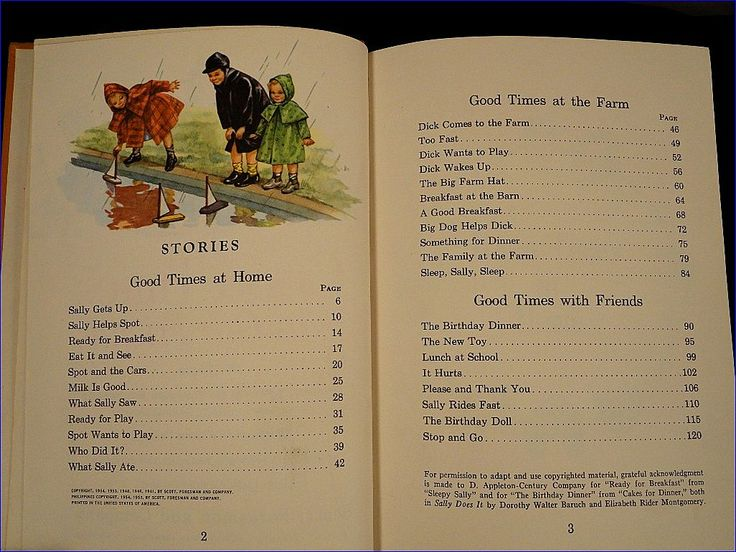 Good Times With Our Friends Vintage 1954 Scott Foresman Dick and Jane Series Health First Grade School Reader