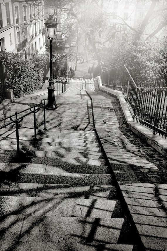 Stairs In Montmartre Paris France Black Amp White Urban