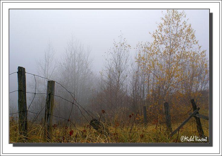Morning Fog - Notre-Dame du Mont-Carmel, Quebec