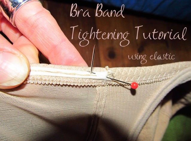 Bra Band Tightening Tutorial, Using Elastic - Venusian*Glow. This will come in handy between sizes so i don't have to replace all my bras that are too big all at once.