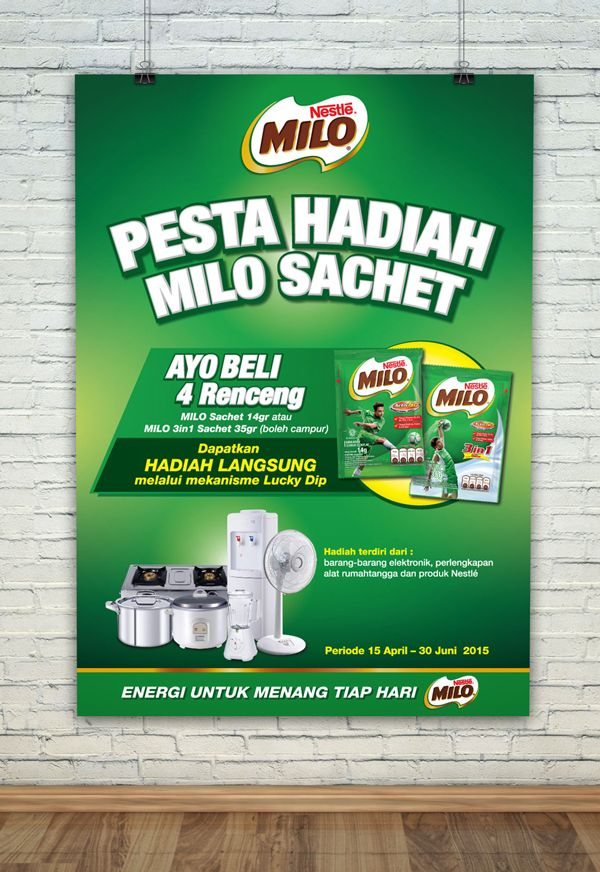 MILO Sachet Pesta Hadiah  For more design/pictures : http://ift.tt/1O3bgE2