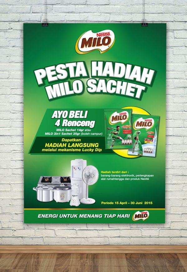 MILO Sachet Pesta Hadiah  For more design/pictures : http://ift.tt/1O3bgE2