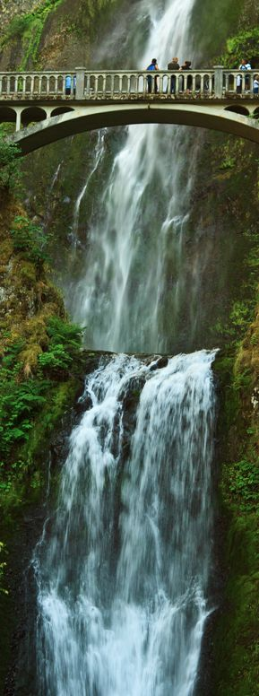 Multnomah Falls in the Columbia River Gorge near Portland, Oregon • photo: Ed Devereaux on Flickr