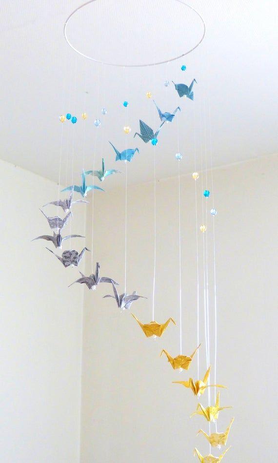 Origami Baby Mobile Spiral Mobile Paper Crane Origami Mobile