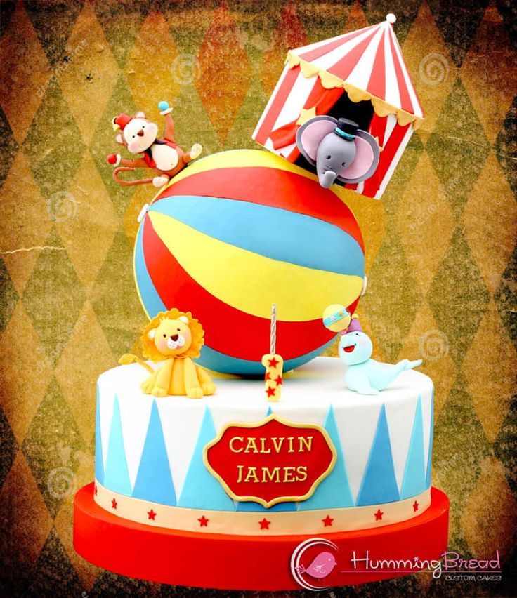 EDITOR'S CHOICE (01/10/2015) Circus Cake for Calvin by HummingBread View details here: http://cakesdecor.com/cakes/174915-circus-cake-for-calvin