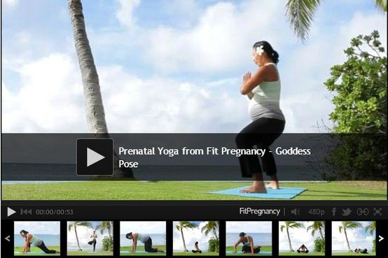 VIDEO: 10 prenatal yoga poses to try now.  #pregnancy #fitness