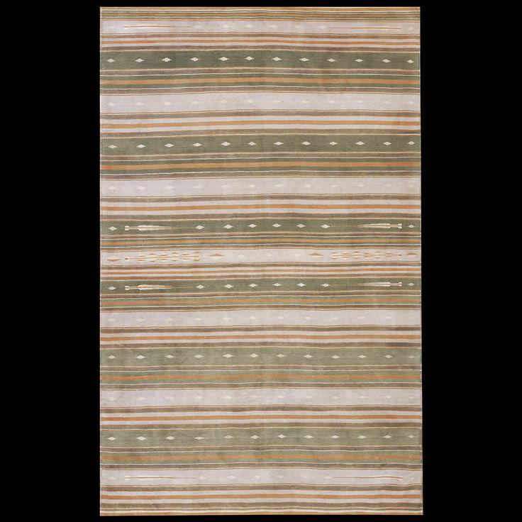 Dhurrie Rug - 21237 | Indian 4' 0'' x 6' 0'' | Multi, Origin India, Circa: 1940  #antique #rug #studio #nyc #dhurrie