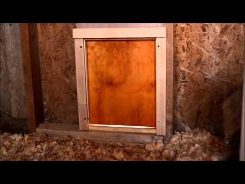 How To Install An Automatic Chicken Coop Door Installation
