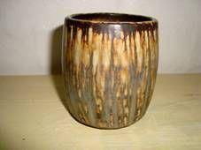 RÖRSTRAND pot – Gunnar Nylund H: 8,5 cm D: 7 cm. 1931-58. #Roerstrand #Swedish #Nylund #pot #krukke #ceramics #stoneware #tilsalg #forsale on www.klitgaarden.net