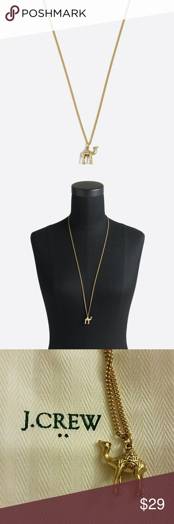 J. Crew Camel Pendant Necklace Brand new with tags and white dust bag J. Crew Jewelry Necklaces