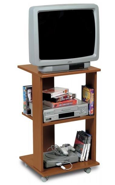 Porta televisione a colonna economico ciliegio  Art. CPSTV1523B12801    Carrello porta tv compatto con rotelle.  Il porta televisore in vendita ha la base e il piano superiore soft sagomati frontalmente e rivestito in abs, e l'intera struttura ha proprietà antigraffio e antiurto.  Il mobile porta tv ha una base di appoggio di dimensioni larghezza 45 cm e profondità 40 cm, ed è adatta ad sostenere qualsiasi piccolo televisore a tubo catodico, televisore lcd o al plasma.