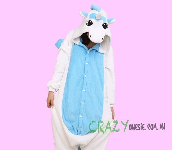 Blue Unicorn Onesie. 25% off EVERYTHING in store. Free Express Delivery Australia-wide. Visit www.crazyonesie.com.au for more details. Visit our Facebook page https://www.facebook.com/crazyonesie for exclusive competitions and discounts