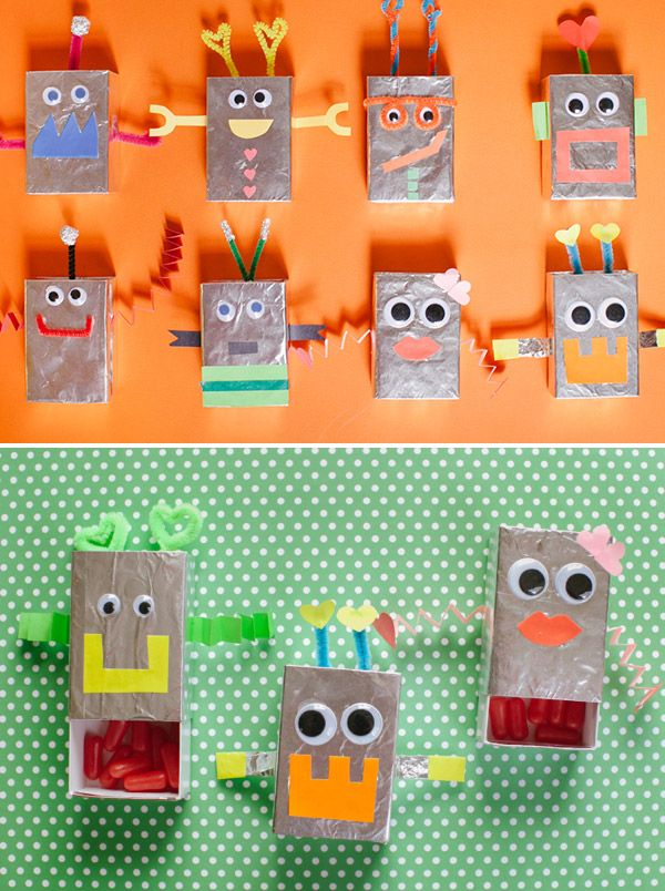 Robot Goodie Boxes DIY - Oh Happy Day