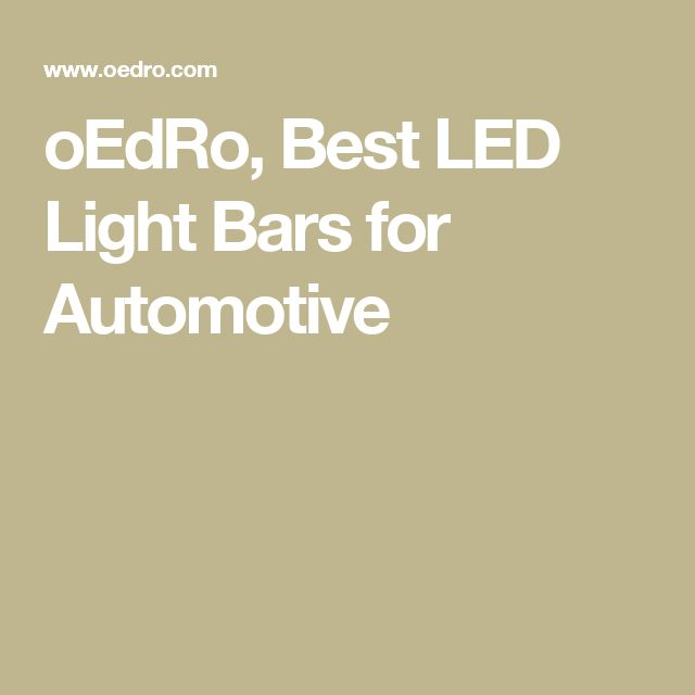 oEdRo, Best LED Light Bars for Automotive