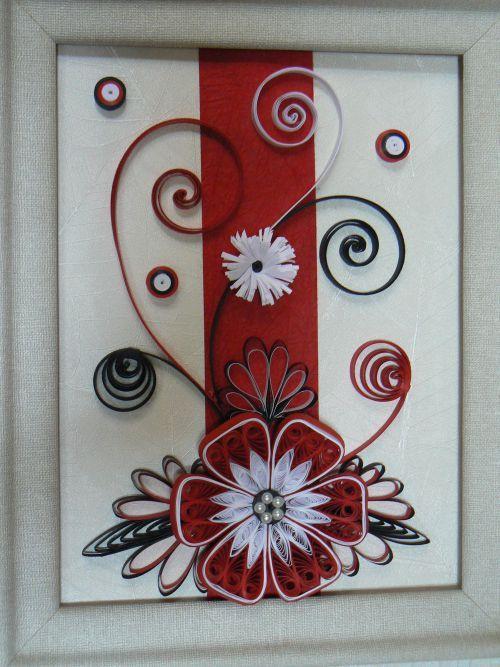 rouge et noir quilling pinterest photos et rouge. Black Bedroom Furniture Sets. Home Design Ideas