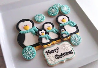 Penguin cookies using a nesting doll cookie cutter set