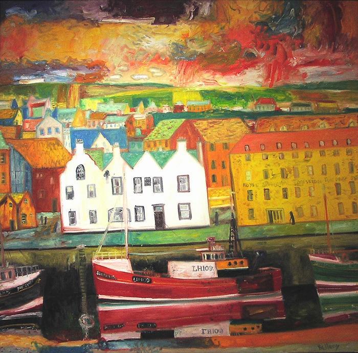 Eyemouth, John Bellany - The Scottish Gallery, Edinburgh - Contemporary Art Since 1842