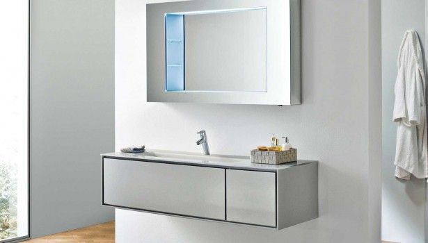 Bathroom Contemporary Bathroom With White Vanities Design Interior Also Modern Retangle Single Mirror And Endearing Hanging Drawer Plus Heavenly Laminate Wood Flooring Beautiful Modern Contemporary Bathroom Design Ideas For Dazzling Look