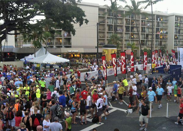 Start of the 2012 Kona Ironman Championship.