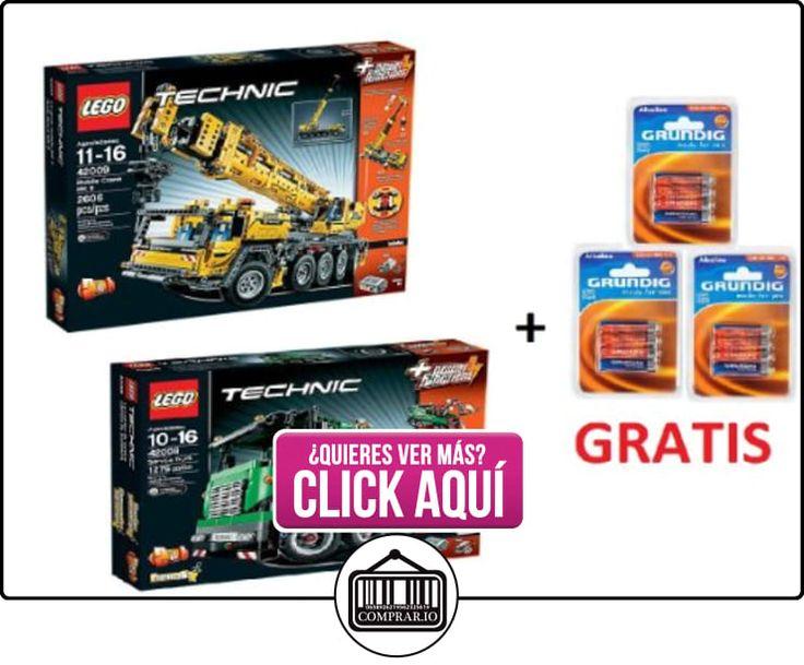 Lego Technic Set 42009 Mobile Crane & Camiones Pesados Remolque 42008 + 12 Baterías Grundig libre  ✿ Lego - el surtido más amplio ✿ ▬► Ver oferta: https://comprar.io/goto/B00DSLRPUQ