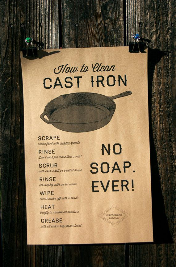 How to Clean Cast Iron poster