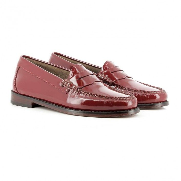 Weejuns Penny Wheel Spanish Red Patent Leather | Loafers ...