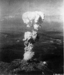 .atomic cloud over Hiroshima, 1945