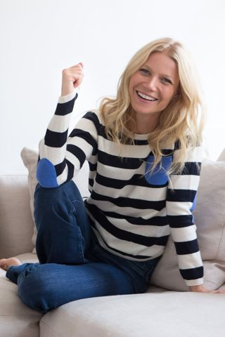 Gwyneth Paltrow's latest Goop Collection exclusive? A collaboration with British label Chinti and Parker, Anna Singh's and Rachael Wood's conscious clothing label.