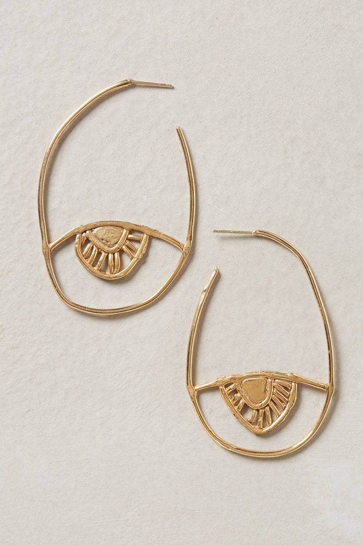 Rising Sun Hoops - anthropologie.com