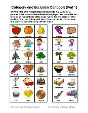 Category Worksheets. Categories Word Lists Activities Worksheets ...