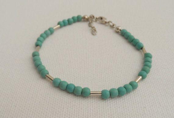 Blue Bead Bracelet-Friendship by AccessoriesInLove on Etsy