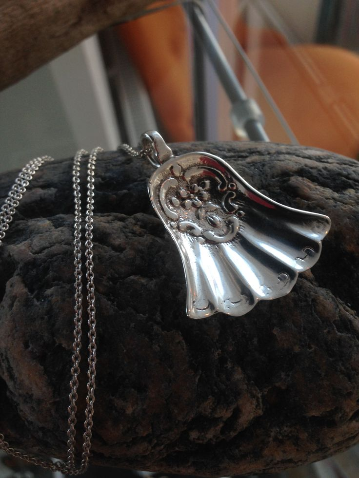 Necklace made of a silverspoon.