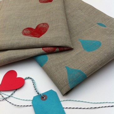 'Brush My Heart and Hope To Dry'  & 'I Said Dry Me!' Set of 2 linen tea towels $49.95