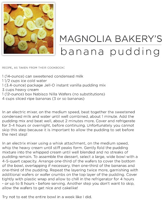magnolia bakery's banana pudding