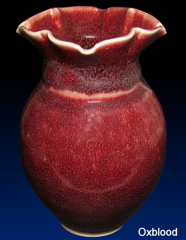 Coyote Oxblood Cone 6 Glaze-- Can't wait to try this out!
