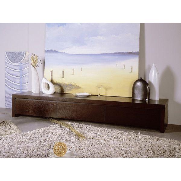 modern zen furniture. hokku designs slender tv stand with three drawers in wenge modern zen furniture