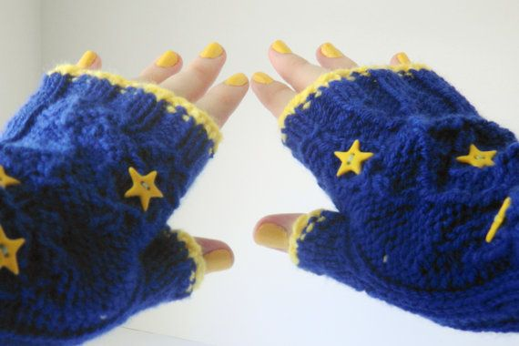 Royal blue armwarmers, fingerless gloves, sapphire blue gloves - READY TO SHIP