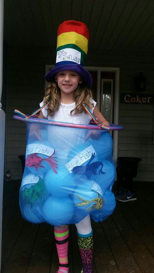 Dr. Seuss dress up night!  One fish, two fish, red fish,  blue fish!