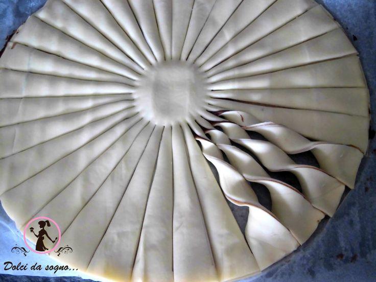 Girasole di pasta sfoglia e nutella | Miei dolci da sogno