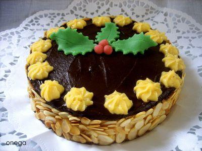 #Receta especial de #Navidad Tarta de Navidad (sin gluten, sin lactosa)