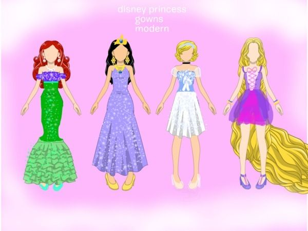Modern Disney Princesses | Disney.com/Create - disney princess modern gowns - ozfan9