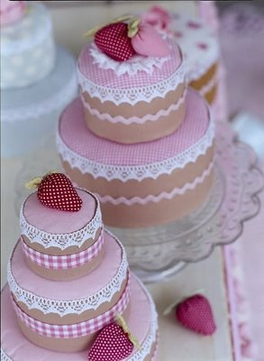 """calorie free"" desserts.....won't go on your hips but it sure will look pretty on a shelf!..very lovely!"