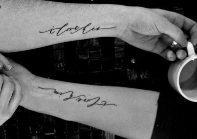 Tatuaggi di coppia: scritte romantiche per innamorati
