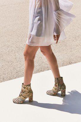 Emma Floral Jacquard Ankle Boot