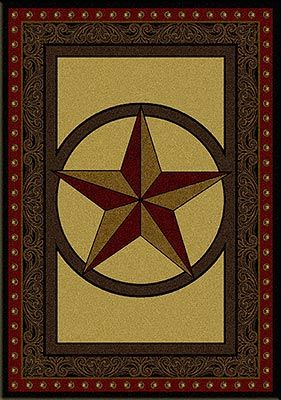 Tooled Leather Star Rug
