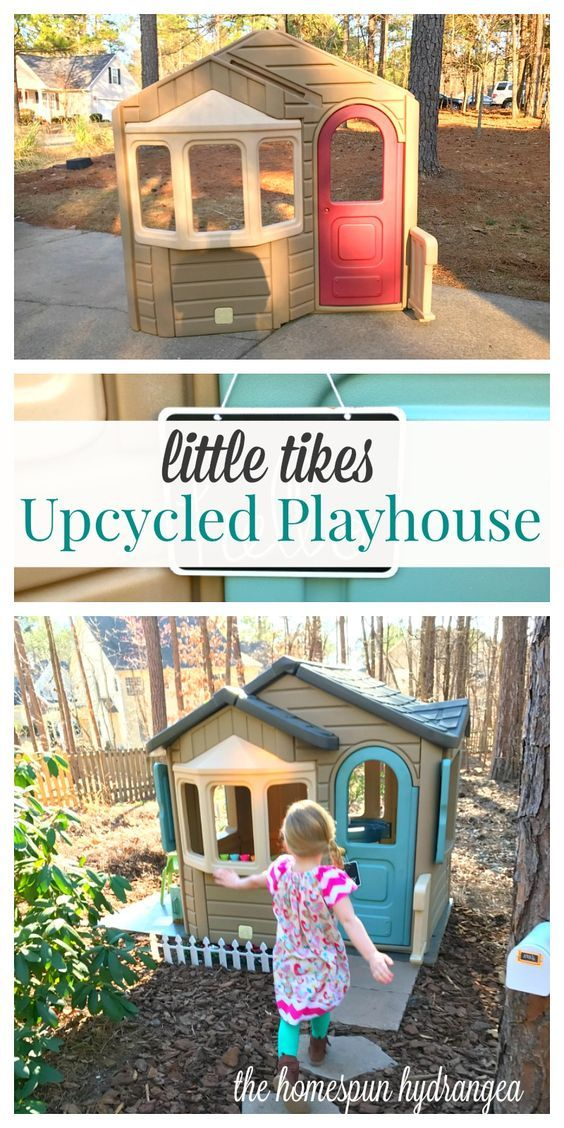 Turn trash into treasure when you try this easy upcycled Little Tikes House tutorial.