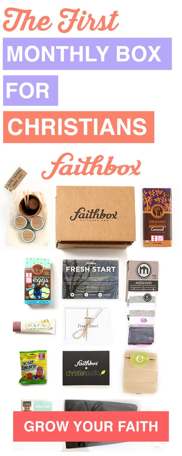 The Original Monthly Box for Christians! Filled with great Christian content and products from companies that make an impact and embody Christian ideals.